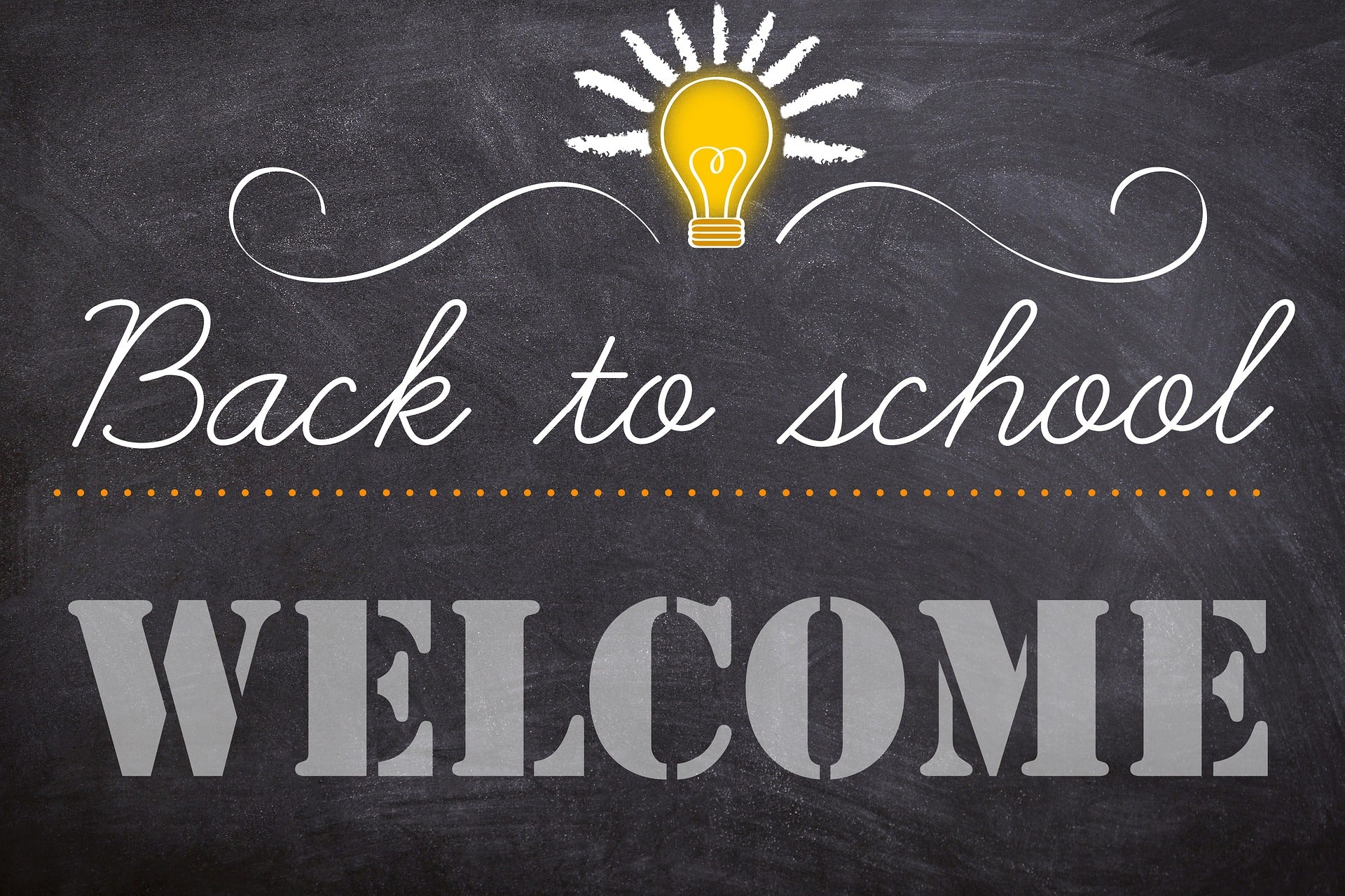 Back to school Welcome poster