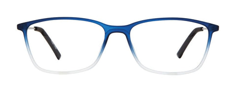 Blue with white fade glasses