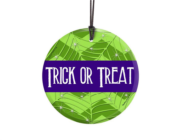 Halloween (Trick or Treat) StarFire Prints Hanging Glass Ornament
