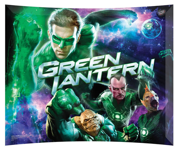 Green Lantern (Purple Sky) StarFire Prints™ Curved Glass