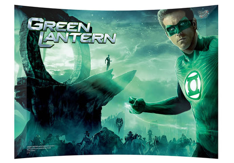 Green Lantern (Green Landscape) StarFire Prints™ Curved Glass