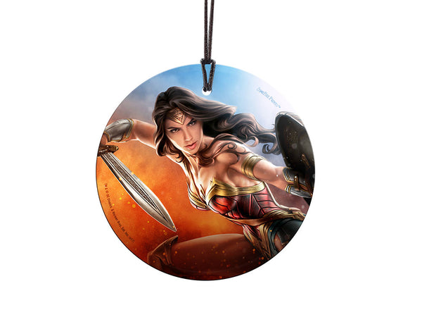 Wonder Woman™ (The Sword of Justice) Starfire Prints™ Hanging Glass Decoration