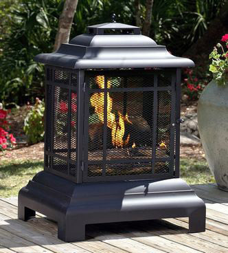 Fire Sense Rectangle Pagoda Patio Fireplace