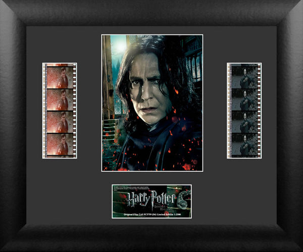 Harry Potter the Deathly Hallows Part 2 Snape Double 13 X 11 Film Cell COA