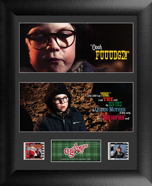 A Christmas Story S2 Double Film Cell Numbered Limited Edition COA