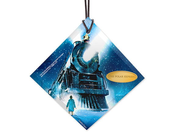 Polar Express™ (Train) StarFire Prints™ Hanging Glass