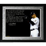 Andy Pettitte Facsimile Postseason Focus Framed Metallic 16x20 Story Photo