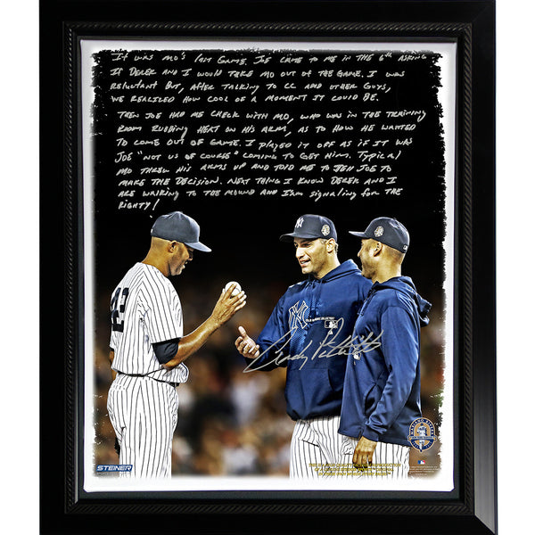 Andy Pettitte Facsimile Taking Out Mo Story Stretched Framed 22x26 Canvas