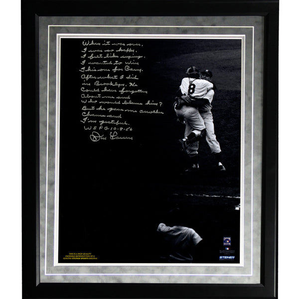 Don Larsen Facsimile World Series Perfect Game Framed Metallic 16x20 Story Photo