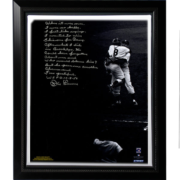 Don Larsen Facsimile World Series Perfect Game Story Stretched Framed 22x26 Story Canvas