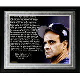 Joe Torre Facsimile 1998 Team of the Century Framed Metallic 16x20 Story Photo