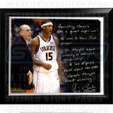 Jim Boeheim Facsimile Recruiting Carmelo Story Stretched Framed 22x26 Story Canvas