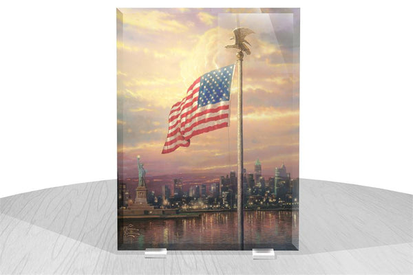Thomas Kinkade (The Light of Freedom) StarFire Prints™ Beveled Glass