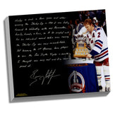 Brian Leetch Facsimile 1st American Conn Smythe Winner Stretched 22x26 Story Canvas
