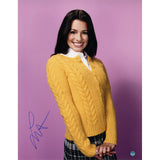 Lea Michele Signed Yellow Sweater 11x14 Photo