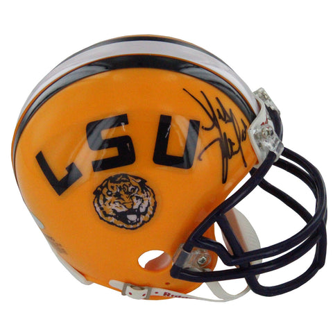 Les Miles Signed LSU Riddell Replica Mini Helmet