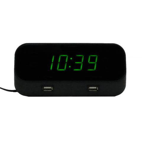 Fully Functional Alarm Clock USB Ports 4K HD Camera - FREE 128GB MICROSD CARD