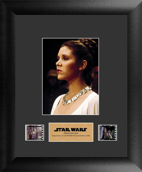 Star Wars Princess Leia Carrie Fisher FilmCell Numbered Limited Edition COA