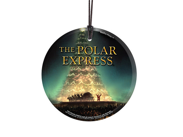 The Polar Express (Tree) StarFire Prints™ Hanging Glass