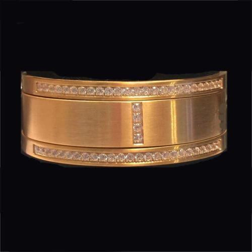 BTiff Signity Star Brighter than Diamond Gold Steel Pave 3 Bangle Bracelets Triple Stack