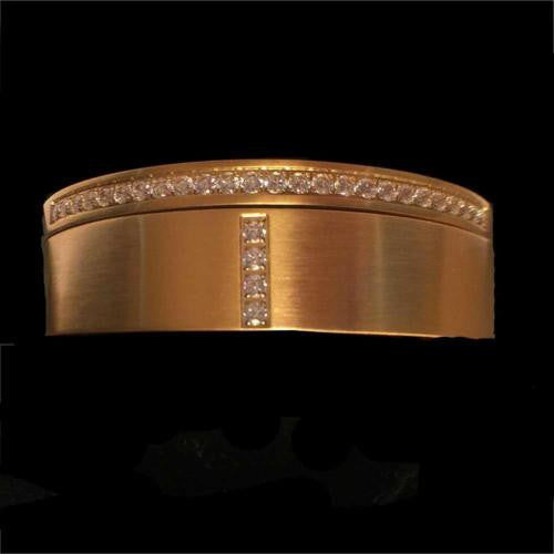 BTiff B.Tiff Signity Star Brighter than Diamond Gold Steel Pave 2 Bangle Bracelet Double Stack