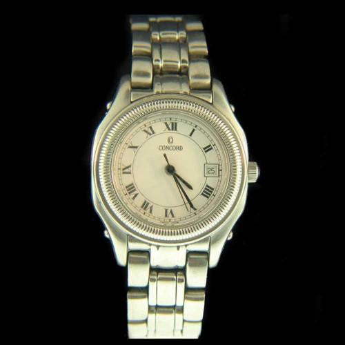 Concord Steeplechase Stainless Steel Ladies Watch 14.36.260 Swiss Made