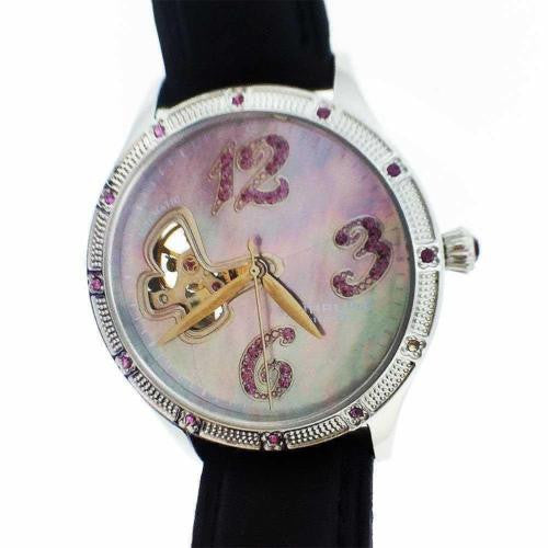 Preowned Ladies Stuhrling Watch ST 90089 Skeleton Back 20 Jewels
