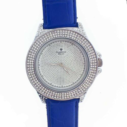 Mens Diamond Maxx Diamond Watch Stunning 3 Row Bezel Diamonds on Entire Case