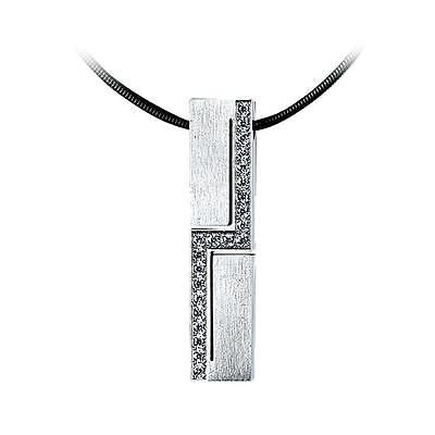 B.Tiff Cross Body Stainless Steel Pendant Necklace