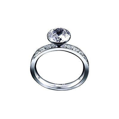 B.Tiff Signity Star Brighter than Diamond Tension Set Eternity Classic Solitaire Ring 2Ct