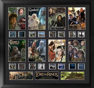 Lord of the Rings Trilogy Character Montage Film Cell Number Limited Edition COA
