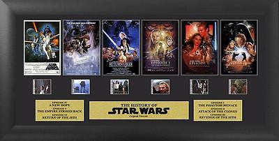 Star Wars Through The Ages 20 X 11 FilmCell Special Edition COA