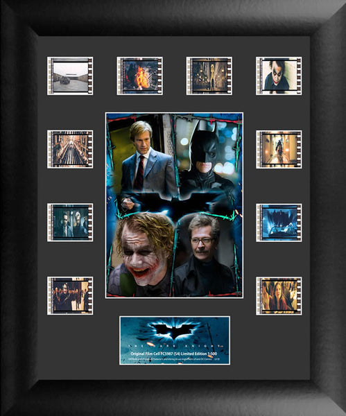 Batman The Dark Knight Character Collage Mini Montage Film Cell Limited Edition COA