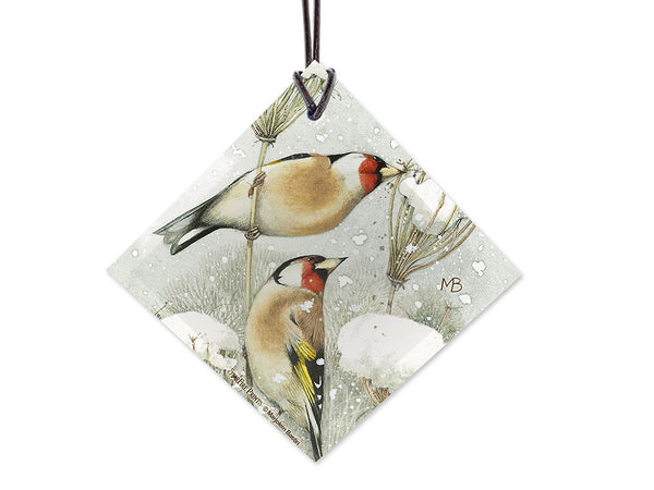 Marjolein Bastin (Winter Birds) StarFire Prints Hanging Glass