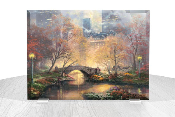 Thomas Kinkade (Central Park in the Fall) StarFire Prints™ Beveled Glass