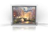 Thomas Kinkade (Central Park in the Fall) PolyPix Print with Backlit Frame