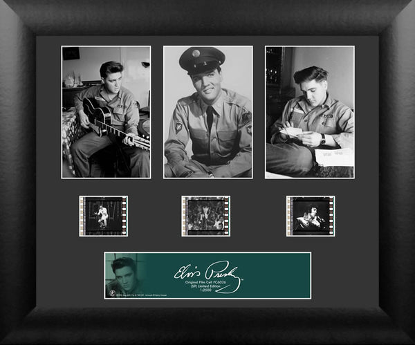 Elvis Presley S9 Three Cell Std 13 X 11 Film Cell Numbered Limited Edition COA