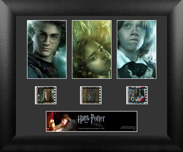 Harry Potter the Goblet of Fire S2 Three Cell Std 13 X 11 Film Cell Numbered Limited Edition COA