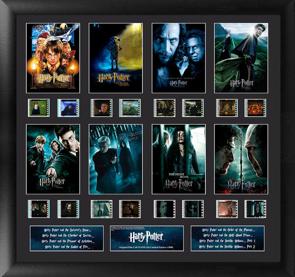 Harry Potter 1-7 Finale S4 Mixed Montage 20 X 19 Film Cell Limited Edition COA