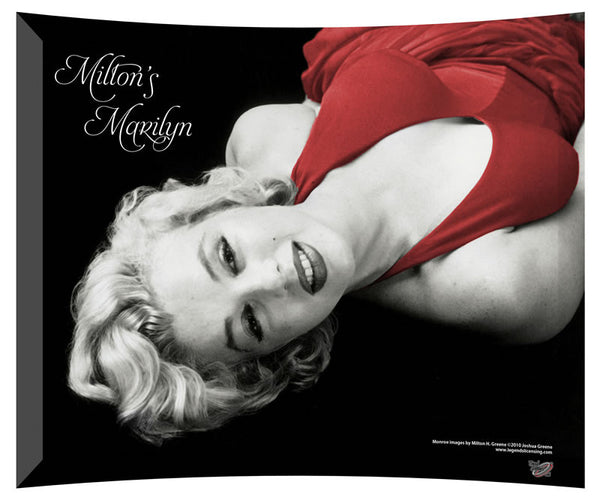 Marilyn Monroe (Red Dress) StarFire Prints™ Curved Glass