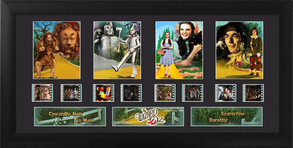 Wizard of Oz (S1) Quad 20 X 11 Film Cell Numbered Limited Edition COA