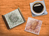 Harry Potter™ (House Crests) StarFire Prints™ Glass Coaster Set