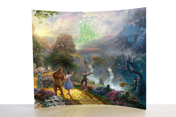 Thomas Kinkade (The Wizard of Oz™ - Dorothy Discovers the Emerald City™) StarFire Prints™ Curved Glass
