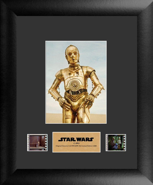 Star Wars C-3PO Single 11 X 13 Film Cell Numbered Limited Edition COA
