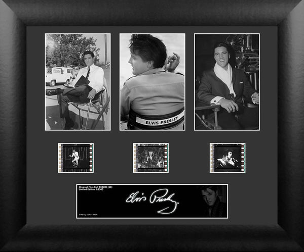 Elvis Presley S8 Three Cell Std 13 X 11 Film Cell Numbered Limited Edition COA
