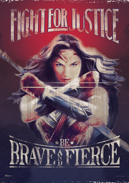 Wonder Woman™ (Fight for Justice) MightyPrint™ Wall Art
