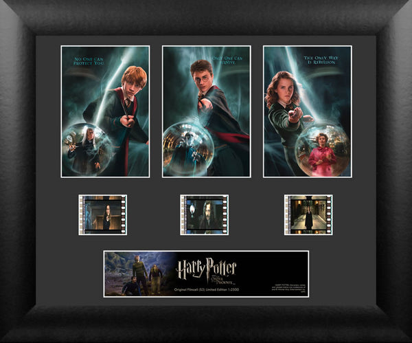 Harry Potter Order of Phoenix S3 Three Cell Std 13 X 11 Film Cell Numbered Limited Edition COA