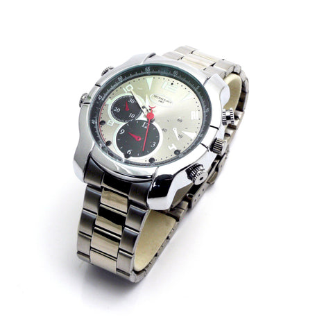Silver Watch with Night Vision