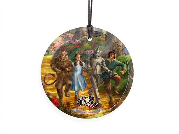 Thomas Kinkade Studios (The Wizard of Oz™ -Follow the Yellow Brick Road™) StarFire Prints™ Hanging Glass - Dorothy and Friends