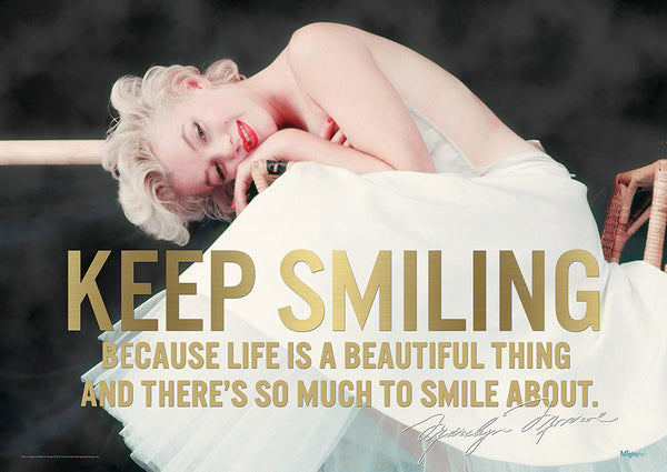Marilyn Monroe (Keep Smiling) MightyPrint™ Wall Art